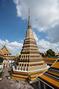 Authentic Thai Architecture in Wat Pho, Bangkok Stock Photos