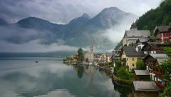 Time lapse of Hallstatt, Austria Stock Footage