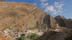 TIMELAPSE Gompa and rough rock,Hemis,Ladakh,India Stock Footage