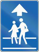 School Crossing Ahead in Canada - stock illustration