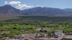 TIMELAPSE Shadows,trees,mountains,Stakna,Ladakh,India Stock Footage