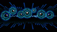 Audio System VJ Loop 07 - stock footage