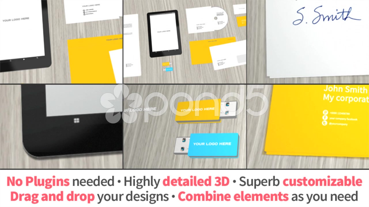 After Effects Project - Pond5 Corporate Video Hero Mock-Up 53141579