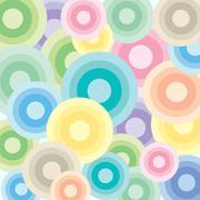 Bright circles of pastel colors - stock illustration