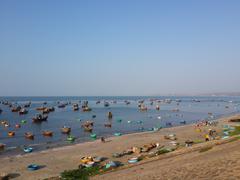 Fishing Boats at Fisherman Village - stock photo