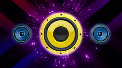 Colorful Speaker VJ Loops 026 - stock footage