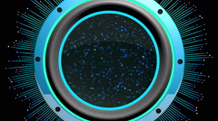 Stock Video Footage of Audio Speaker VJ Loop 018