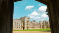 Royal Windsor Castle, Queen Palace Stock Footage