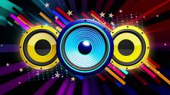 Audio Speakers VJ Loop 015 Stock Footage
