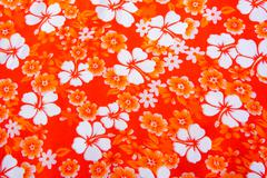 hibiscus flower background . Hawaiian patterns - stock photo
