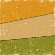 Set grunge retro vintage vector backgrounds in three colors - stock illustration
