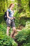 Summer Adventure - Hiking - stock photo
