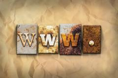 Www Concept Rusted Metal Type Stock Photos