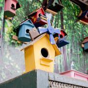 Old bird house Stock Photos