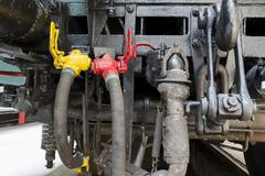 Locomotive connection hoses Stock Photos