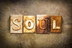 Soul Concept Letterpress Leather Theme - stock photo