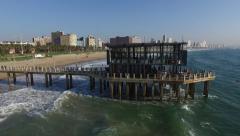 Aerial Footage of Moyo Pier Durban - stock footage