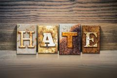Hate Concept Letterpress Theme - stock photo