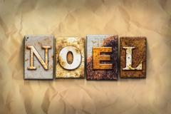 Noel Concept Rusted Metal Type - stock photo