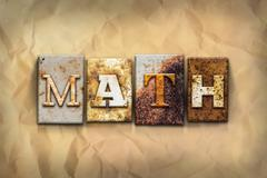 Math Concept Rusted Metal Type Stock Photos