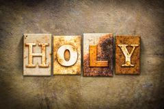 Holy Concept Letterpress Leather Theme - stock photo