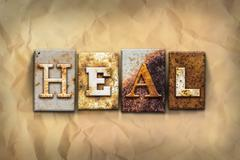 Heal Concept Rusted Metal Type - stock photo