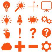 Basic science and knowledge icons - stock illustration