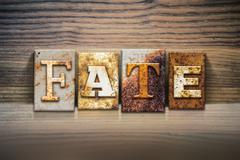Fate Concept Letterpress Theme - stock photo