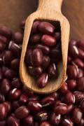 Red haricot beans (Adzuki) - stock photo