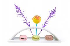 Macaron and cake pop Stock Photos