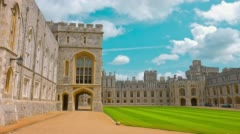 Windsor castle, royal residence at Windsor in England. Stock Footage