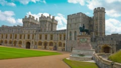 Old Castle Windsor in England Stock Footage