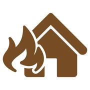Fire Damage icon from Business Bicolor Set Stock Illustration