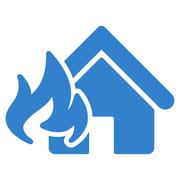 Fire Damage icon from Business Bicolor Set - stock illustration