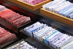 Ties shop - stock photo