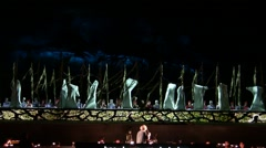 Maidens hatch in the beginning of Spring during Orff's 'Carmina Burana' opera Stock Footage