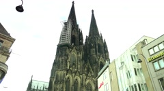 ULTRA HD 4K real time shot,The Cologne Cathedral Stock Footage