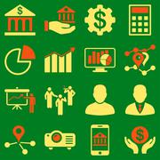 Banking business and presentation symbols Piirros
