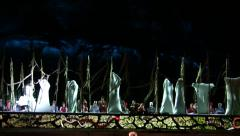 Zoom Maidens hatch in the beginning of Spring during Orff's Carmina Burana opera Stock Footage