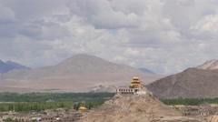 TIMELAPSE Gompa and clouds,Choglamsar,Ladakh,India Stock Footage