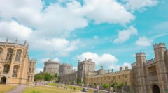 Windsor Castle and gothic chapel Stock Footage