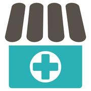 Drugstore icon from Business Bicolor Set Stock Illustration