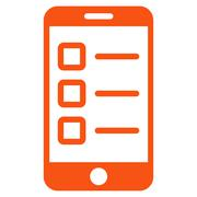 Mobile test icon from Business Bicolor Set - stock illustration