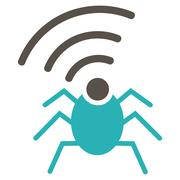 Stock Illustration of Radio spy bug icon from Business Bicolor Set
