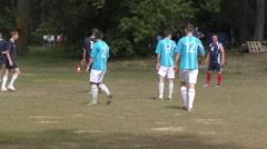 The men play mini football - stock footage