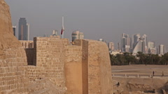 Stock Video Footage of Qal'at al-Bahrain fort in Manama city
