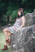 Mini beautiful portrait native american concept - stock photo