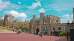 Windsor Castle, official residence of The Queen Stock Footage