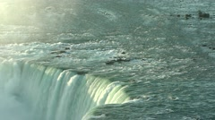 Tumbling water into Niagara Falls 4K - stock footage