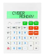 Calculator with CYBER MONDAY - stock photo